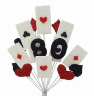 Vegas 80th birthday cake topper decoration - free postage